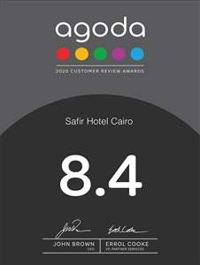 Safir Hotel Cairo Achieved Customer Review Award 2020 by Agoda.Com