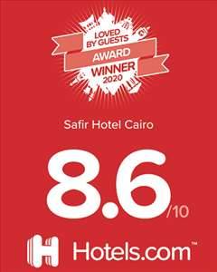 Safir Hotel Cairo  Won Loved By Guest Award by Hotels.com